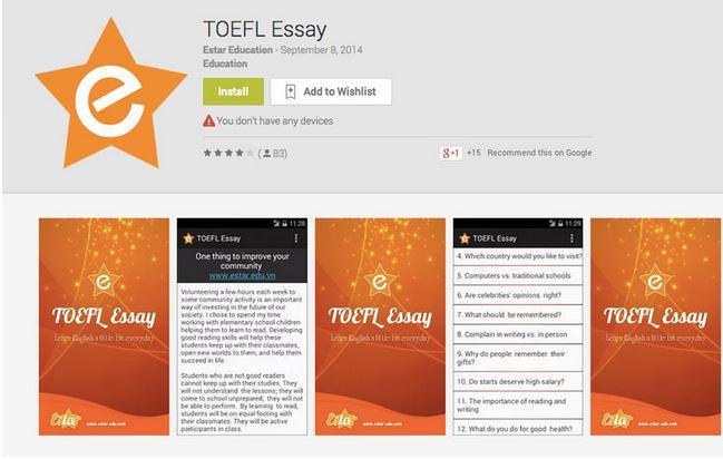 Toefl study guides essay writing programs